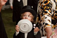 A top hat for Brian Littrell's little boy made his vow renewal celebration all the more adorable! - The Celebration Society
