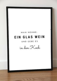 Typo Poster für Köche und Weinliebhaber / artprint for the kitchen and wine lovers made by Pap-Seligkeiten via DaWanda.com