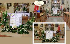 Image result for dekoracja ołtarza komunia Tree Skirts, Christmas Tree, Table Decorations, Holiday Decor, Home Decor, Google, Church Altar Decorations, Flower Arrangements, Ideas