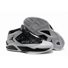 Popular Jordan Flight the Power Black Metallic Silver Basketball Shoes For $68.95 Go To:  http://www.basketball-mall.com