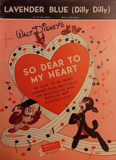 656927af0 Sheet music from Disney's So Dear to My Heart. Vintage Sheet Music,  Lavender Blue