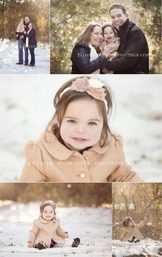 one year old photography, baby photos, family photography, snow photography, family pictures