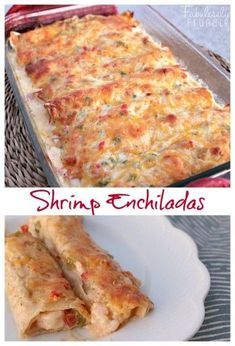 I sure do love these shrimp enchiladas. They are cheesy, flavorful, and totally different from the usual enchilada. I sure do love these shrimp enchiladas. They are cheesy, flavorful, and totally different from the usual enchilada. Seafood Recipes, Mexican Food Recipes, Dinner Recipes, Cooking Recipes, Healthy Recipes, Avocado Recipes, Seafood Casserole Recipes, Crawfish Recipes, Hotdish Recipes