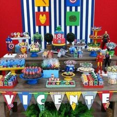 Image may contain: 1 person 30th Birthday Cakes For Men, Birthday Party Tables, 4th Birthday Parties, Birthday Party Decorations, Avengers Birthday, Superhero Birthday Party, Boy Birthday, Marvel Baby Shower, Iron Man Party