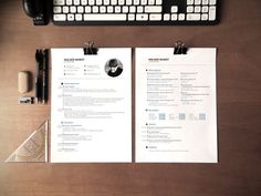 CV, resume and cover letter template by Designed in Berlin on @creativemarket