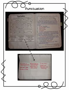 Punctuation Interactive Notebook Entry (FREEBIE)