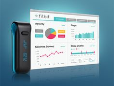 Fitbit's Dashboard.  Bright colors, tabbed navigation.