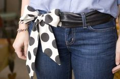 Leather Bow Belt///