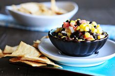 Creamy Black Bean and Corn Salsa Recipe from @Kristen Wogan Doyle via @Aimee | Simple Bites