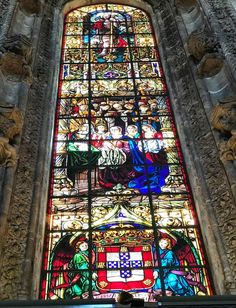 Stained glass window, Jeronimos Monastery, Lisbon, 2017