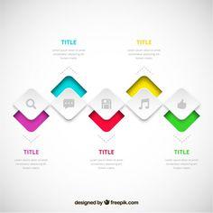Процесс инфографики в современном стиле Бесплатные векторы