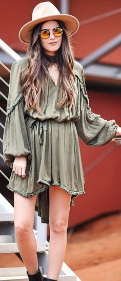 Olive Belted Little Dress                                                                             Source