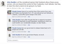 John Ruskin and the fiery Maude Gonne face off on Facebook