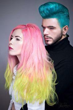 Mary Misantropic & Stefan Kokovic by Adam Rakicevic Hair: Manic Panic