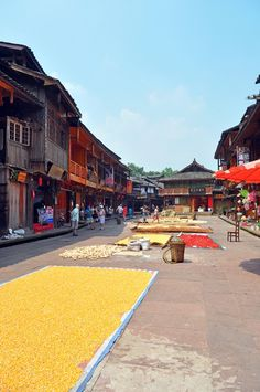 Ancient Chinese town Shangli in Sichuan Province