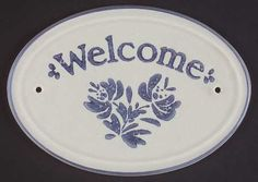 """PfaltzgraffYorktowne (USA), """"Welcome"""" Wall Plaque, $19.99 at Replacements, Ltd"""