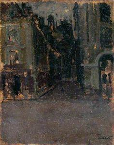 La Rue Notre Dame and the Quai Duquesne by Walter Richard Sickert Oil on canvas, 37.5 x 30 cm