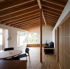 お茶室のある夫婦二人のための家 Japanese Modern House, Gros Morne, 1960s House, Room Acoustics, Japanese Interior Design, American Interior, Beautiful Home Designs, Space Interiors, Inspired Homes