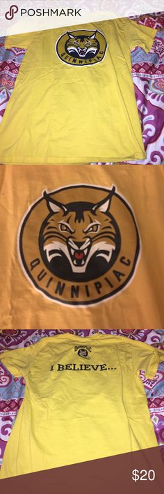 """Quinnipiac University T-Shirt Support your Bobcats with this special edition """"I Believe..."""" T-Shirt. It is a medium but a little baggy on me. Great condition, no stains or rips Tops Tees - Short Sleeve"""