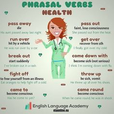 We can use a lot of phrasal verbs to talk about illnesses. Have a look :) #esl #efl #learningenglish #learning #studyenglish #english #angličtina #englishteacher #englishlesson #hodinaanglictiny #hodinaangličtiny #instahappy #instadaily #istagram #elt