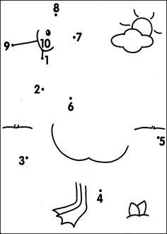 Fichas para unir puntos y formar o completar dibujos. Esencial para ...