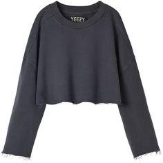 YEEZY sweatshirt ($421) ❤ liked on Polyvore featuring tops, hoodies, sweatshirts, sweaters and adidas originals