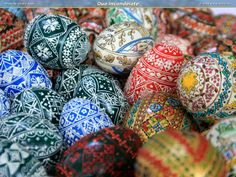 Handmade Romanian Easter Eggs