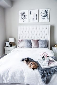 Tiffany Jais Houston fashion and lifestyle blogger sharing her updated Scandinavian bedroom interior with Minted, click to read more | Minted art prints, interiors, home decor