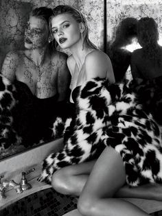 Kelly Rohrbach wears fur coat for C Magazine May 2017