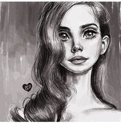 Image about art in lana del rey by Crystal Crystal Drawing Sketches, Art Drawings, Drawing Eyes, Figure Drawings, Sketching, Stylo Art, Frida Art, Fan Art, Art Pages