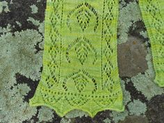 Shetlands fairy fern lace scarf
