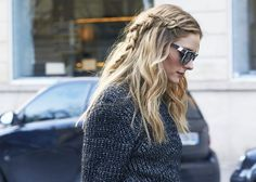 Braid day-old hair FOR OLIVIA PALERMO
