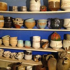 Our kitchen today). #ceramics#pottery#potterypark