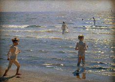 Peder Severin Krøyer, Niños en la playa, 1892