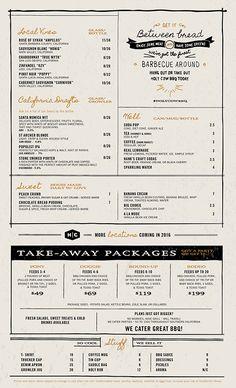 Art of the Menu: Holy Cow Barbeque Meat Restaurant, Restaurant Identity, Cafe Menu Design, Restaurant Menu Design, Food Design, Design Design, Graphic Design, Diner Menu, Menu Layout