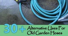 Alternative Uses For Old Garden Hoses Like everything else in the world, garden hoses have a limited lifespan. After a few years of use, hoses get Garden Hose, Garden Tools, Ikea Garden Furniture, Easy Garden, Garden Ideas, Garden Fun, Indoor Garden, Garden Projects, Garden Tool Storage