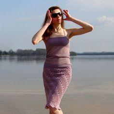 Crochet skirt PATTERN crochet knee length skirt by CONCEPTcreative