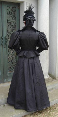 Madame Modiste Historic Costuming: 1890's half mourning dress