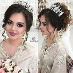 The front of this hair do Wedding Hair And Makeup, Wedding Beauty, Hair Makeup, Wedding Hairstyles With Crown, Bride Hairstyles, Updo Styles, Hair Styles, Quince Hairstyles, Quinceanera Hairstyles