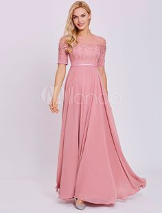 Tanpell scoop neck evening dress peach short sleeves floor length a line  gown women appliques prom long formal evening dresses a6eaac7dbfa8