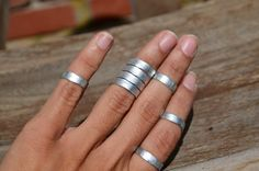 This beautiful silver cuff ring is handmade with hammered flat wire. It adjusts perfectly and its very comfortable to wear. Please let us know