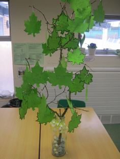 "Lent promise tree Children write what they are not good at one side of the leaf then ""turn over a new leaf"" by writing on the other side what they are going to try and do through lent."