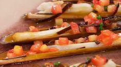 Receta de navajas con salsa de asado
