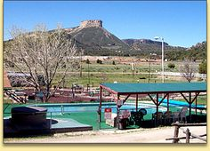 A & A Mesa Verde Campground, RV & Cabins.  Looks like a good place to stay for a Mesa Verde vacation.  Even has a pool.  Like that.