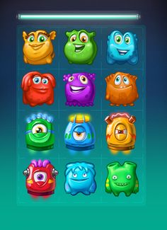 https://www.behance.net/gallery/28982385/Cute-monsters