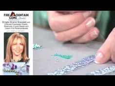 Video: Sherry Serafini shows how to create a bracelet using flat square stitch bracelet, then lavishly embellishing it with a variety  beads using the stack stitch. #Seed #Bead #Tutorials
