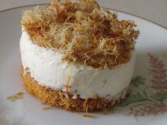 מוס גבינה שוקולד לבן וקדאיף | יופי במטבח - חיה דר