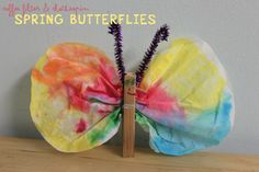 Coffee Filter & Clothespin Butterflies...great use of household items for a cute craft