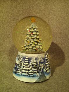 Pine Scented Light Up Christmas Tree Snow Globe Air Freshener Sparkling Winter