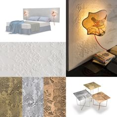Lace decoration_DREAM testata letto_LACE tavolini